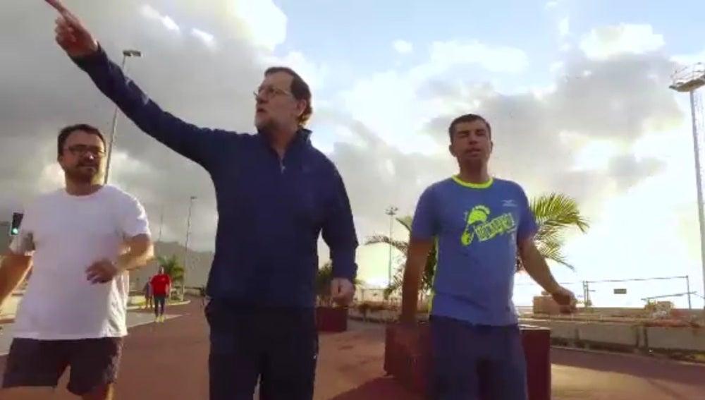 Rajoy en su vídeo de 'caminando rápido'
