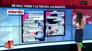Frame 52.167473 de: Torbe, De Egea y la testigo: nuevos Whatsapps del escándalo