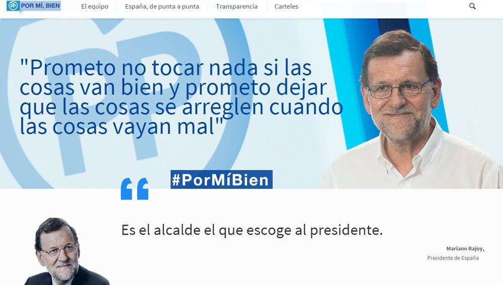 Imagen de la web rajoypresidente.es