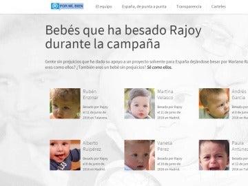 Fragmento de la web 'rajoypresidente.es', de El Mundo Today