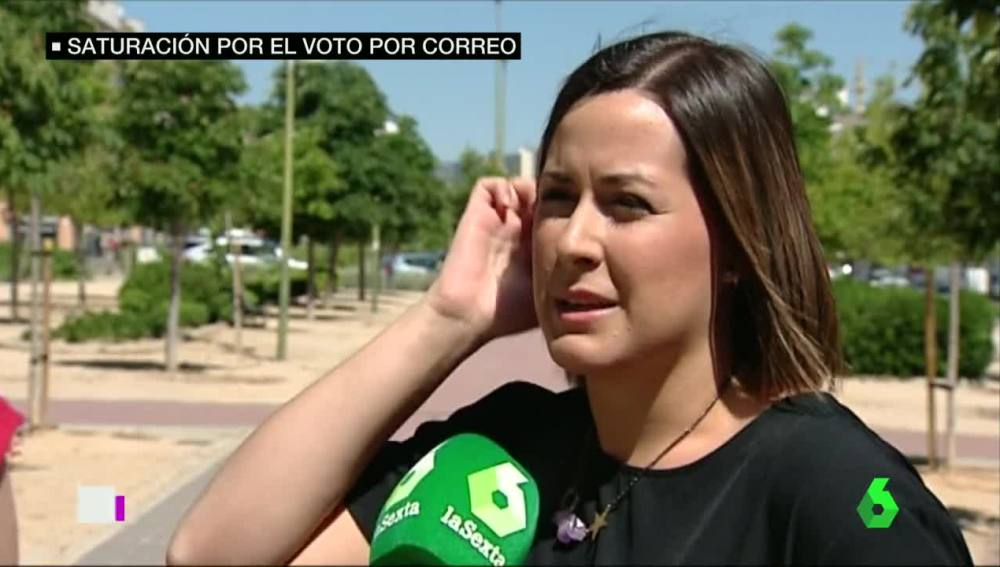 A Maria José no le llega el voto por correo