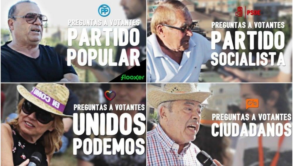 Votantes de los partidos