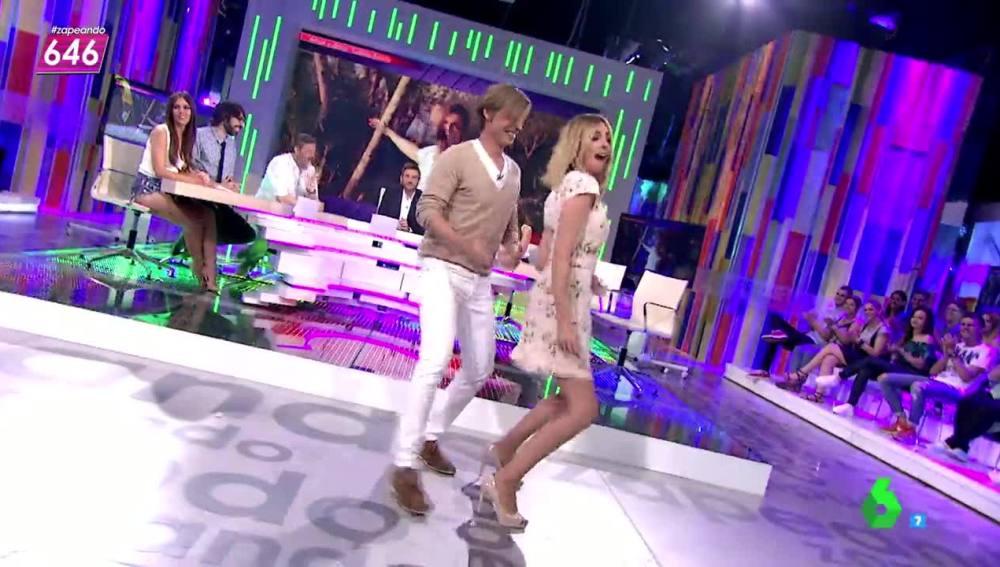 Carlos Baute baila con Anna Simon