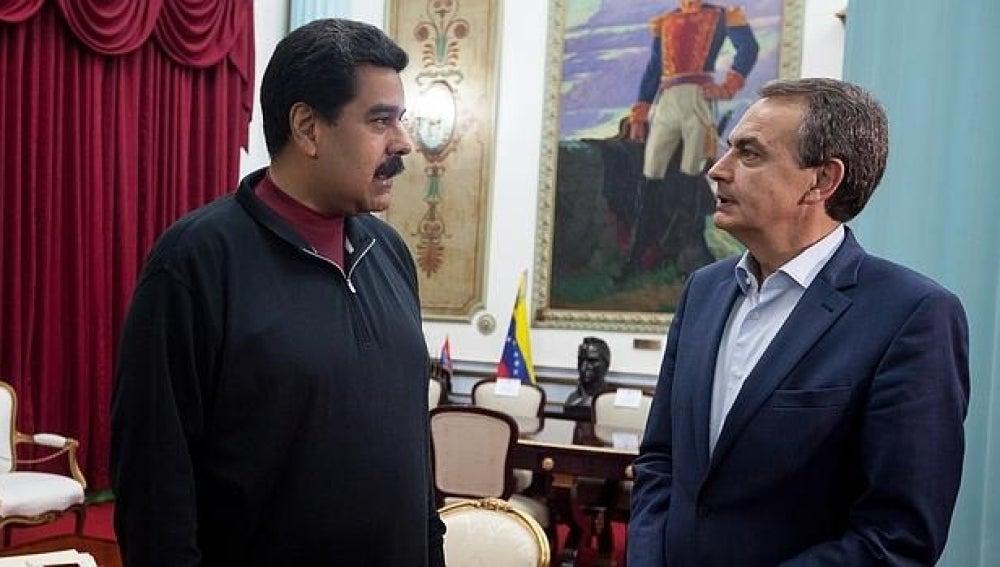 Nicolás Maduro y José Luis Rodríguez Zapatero en una imagen de archivo