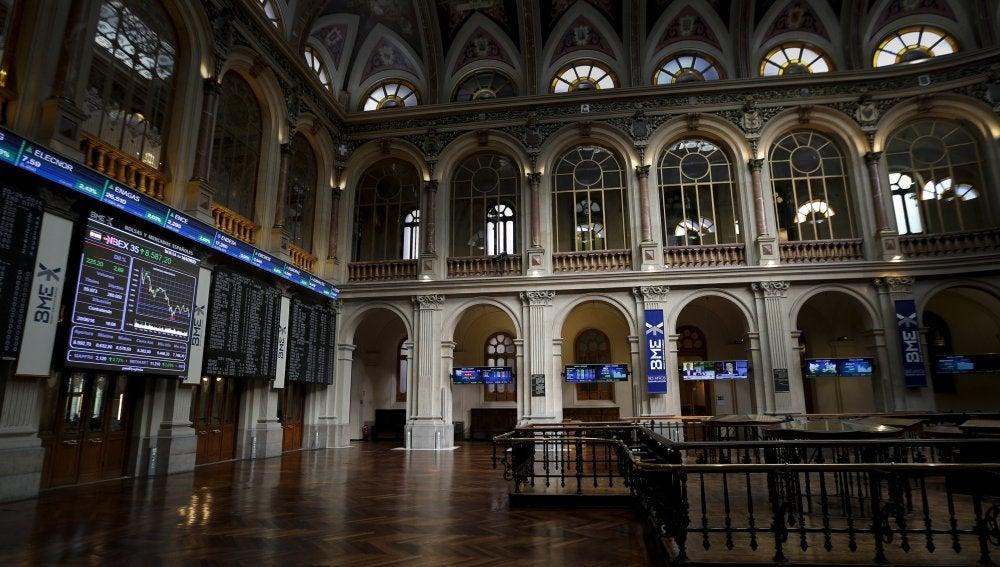 Panel informativo de la Bolsa de Madrid