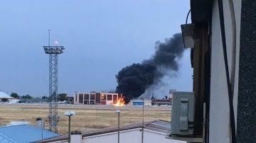 Una avioneta se estrella al aterrizar en el aeródromo de Cuatro Vientos