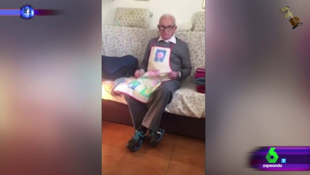 Abuelo indignado porque le suben dos euros la pensión