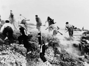 Imagen de archivo de los combatientes en la Guerra Civil española