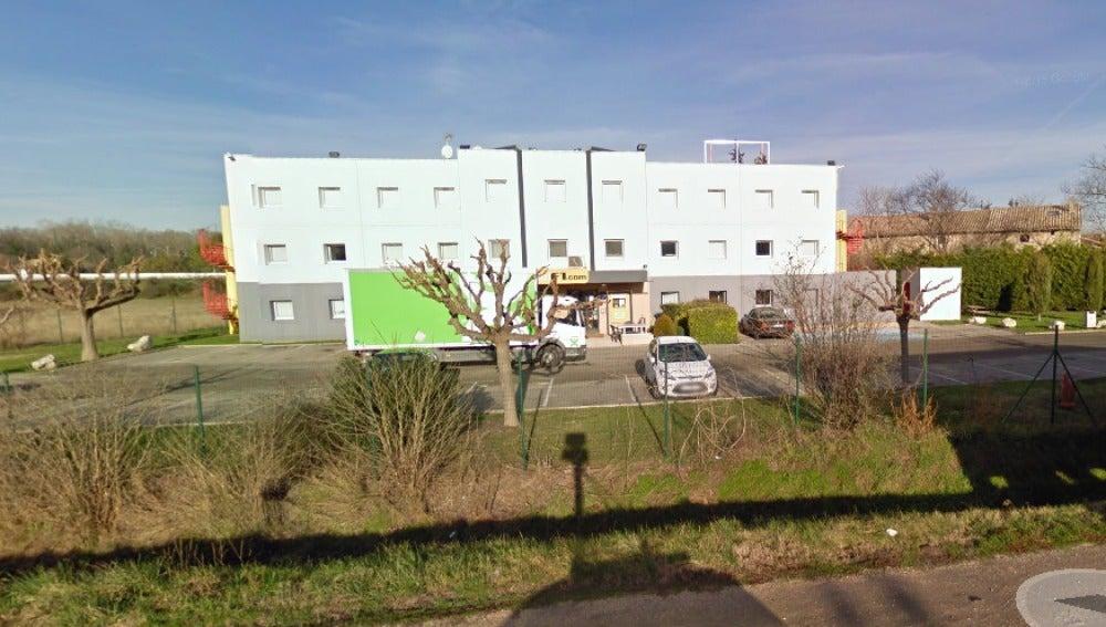 Fachada del hotel F1 en Bollene, Francia