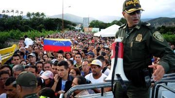 Paso fronterizo entre Colombia y Venezuela