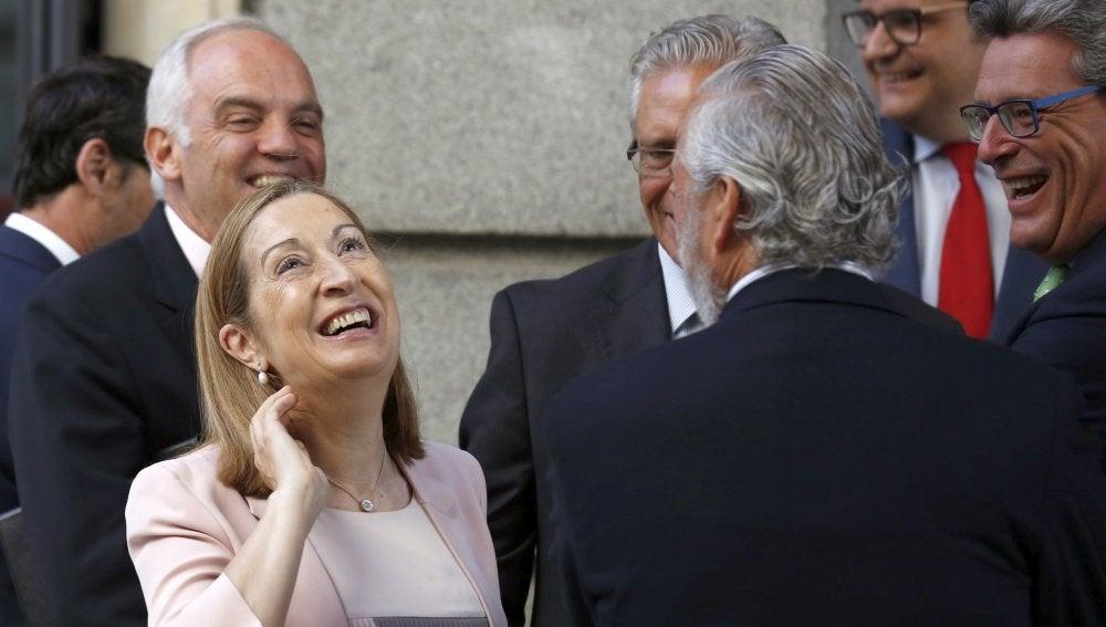 Ana Pastor a su llegada al Congreso