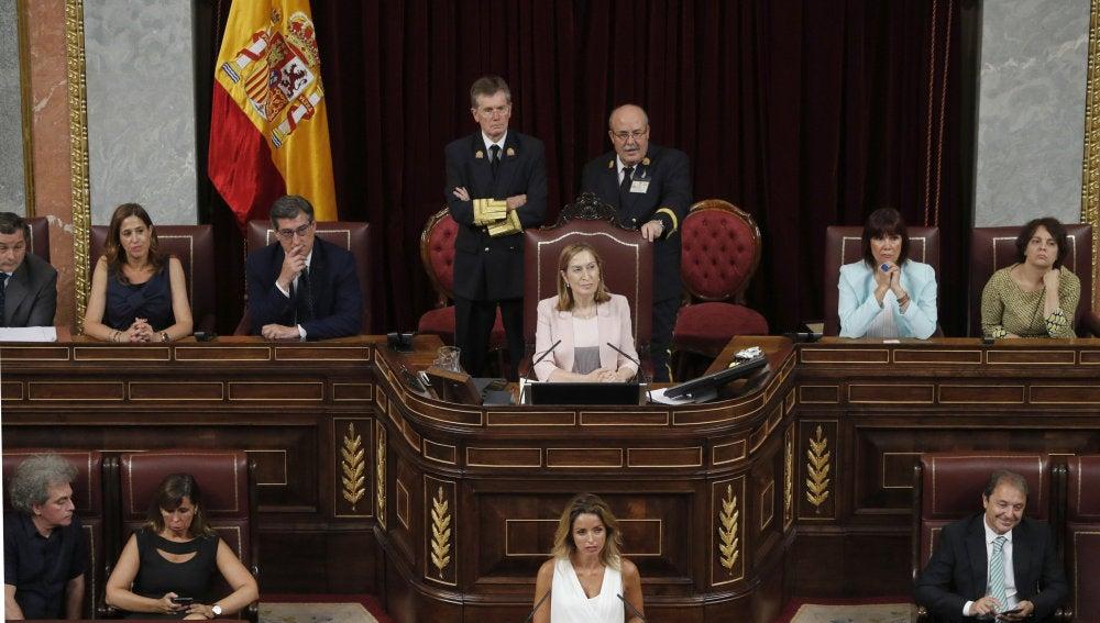 Miembros de la nueva Mesa del Congreso de los Diputados.