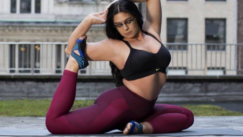 Claire Fountaine, profesora de yoga en Estados Unidos.