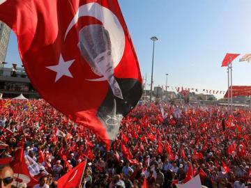 Manifestación de la oposición turca