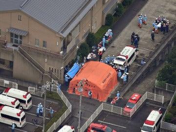 Lugar del ataque en un centro de discapacitados de Japón