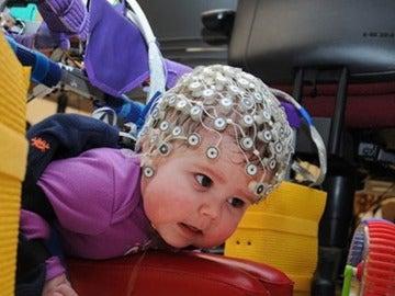Un bebé durante el estudio.