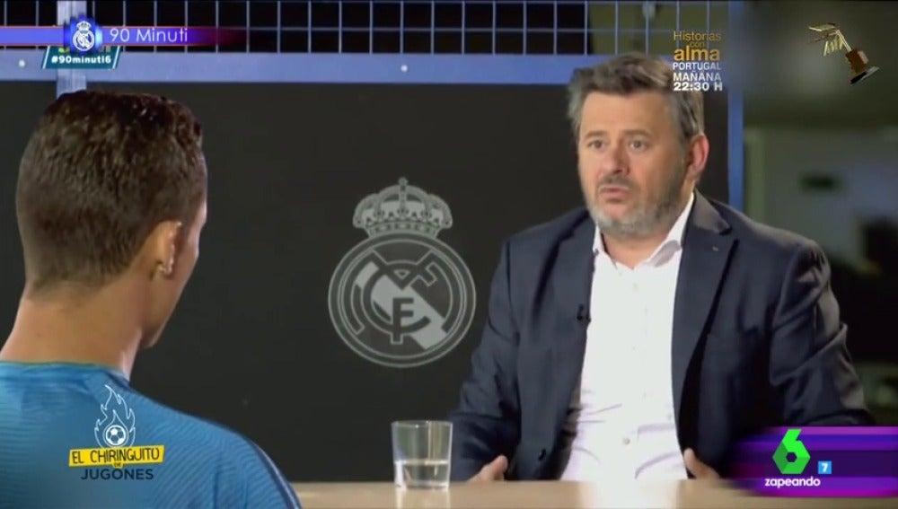 Frame 69.028121 de: La entrevista más graciosa de Miki Nadal a Cristiano Ronaldo, tercer finalista a mejor vídeo manipulado