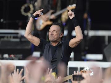 Springsteen durante el concierto ofrecido en Múnich