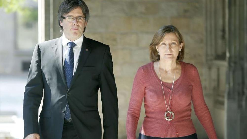 Puigdemont y Forcadell