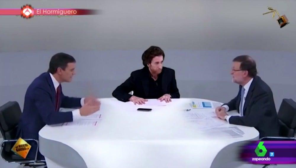 Frame 45.355777 de: El debate de Mariano Rajoy y Pedro Sanchez sobre ovnis y chupacabras, segundo finalista a mejor vídeo manipulado