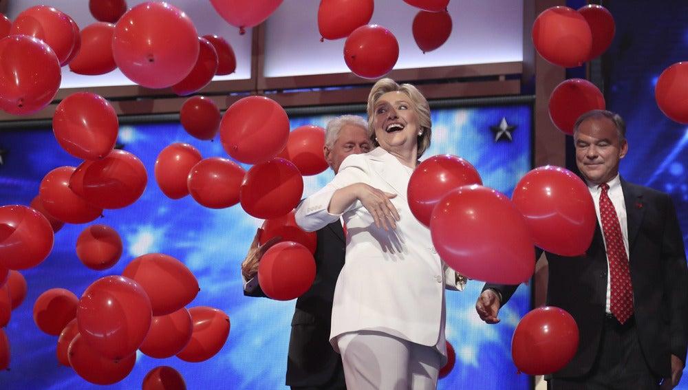 Hillary Clinton en el último día de la convención del Partido Demócrata