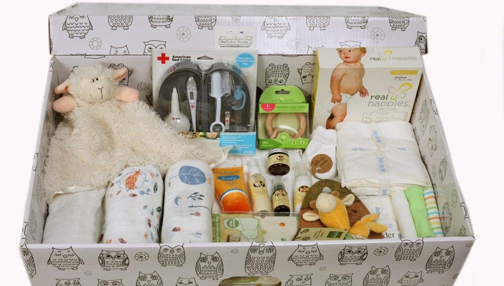 Caja de regalos como la que reciben los recién nacidos en Finlandia