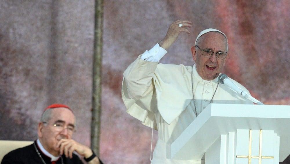 El Papa Francisco en la vigilia de la JMJ en Cracovia.