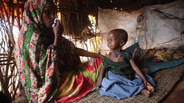 Mujer y niña en Somalia