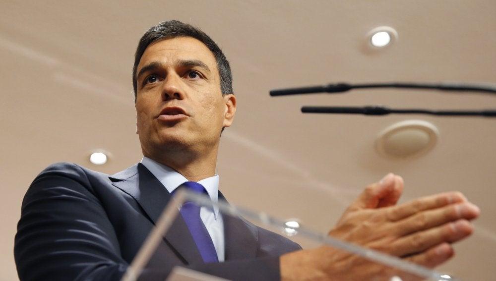 Pedro Sánchez tras su reunión con Rajoy