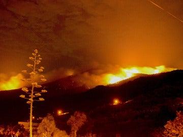 Incendio de La Palma cerca del municipio de Mazo