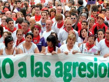 Protesta por las agresiones sexuales en Pamplona durante los Sanfermines