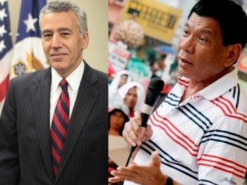 Philip Goldberg y Rodrigo Duterte