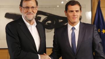 Reunión entre Rajoy y Rivera