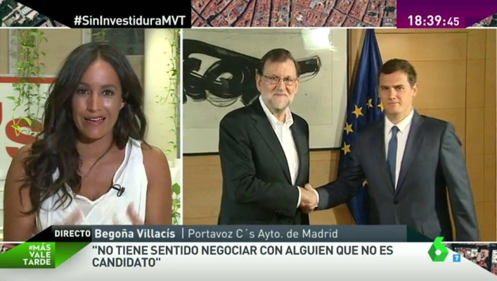 """Frame 90.390139 de: Villacís: """"Es un falso mito que Rajoy sepa calcular los tiempos, lo que mide es la paciencia de los ciudadanos"""""""