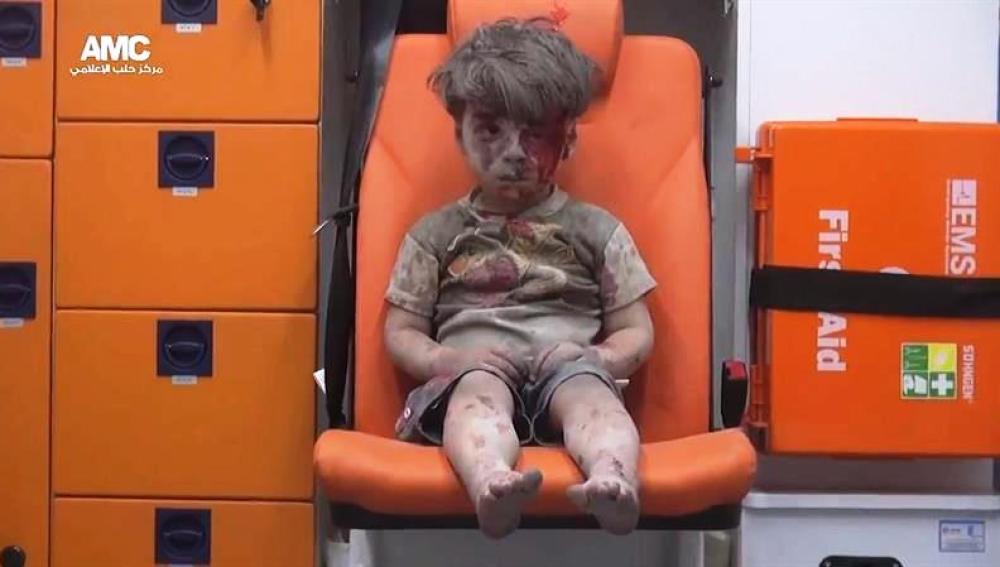 Omram, el joven sirio de cinco años