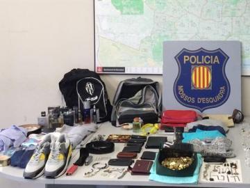 Material incautado a las 12 personas detenidas