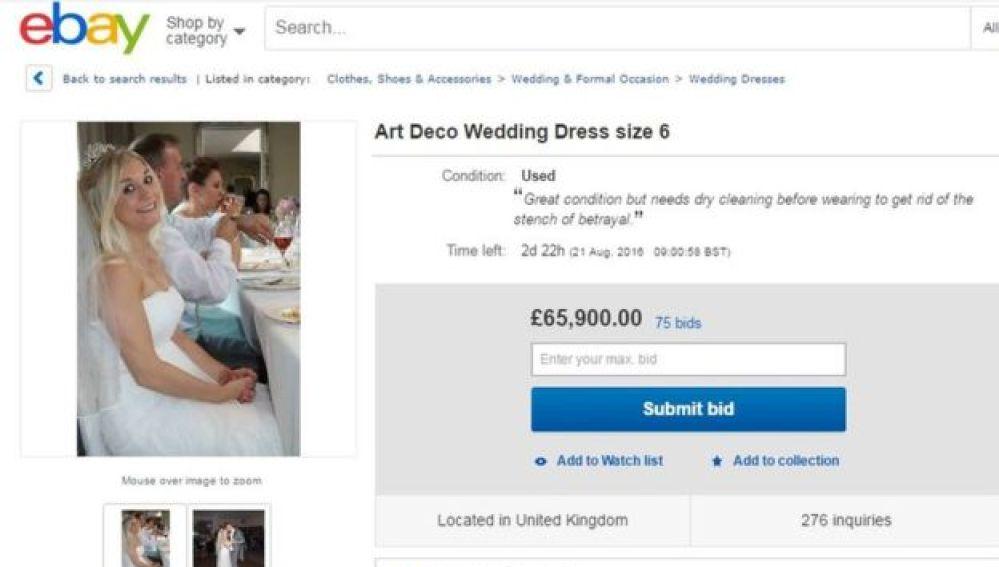 0b0e1b35c Vende su vestido de novia para pagarse el divorcio y avisa de que ...
