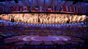 Los fuegos artificiales, protagonistas en la ceremonia de clausura de los Juegos Olímpicos