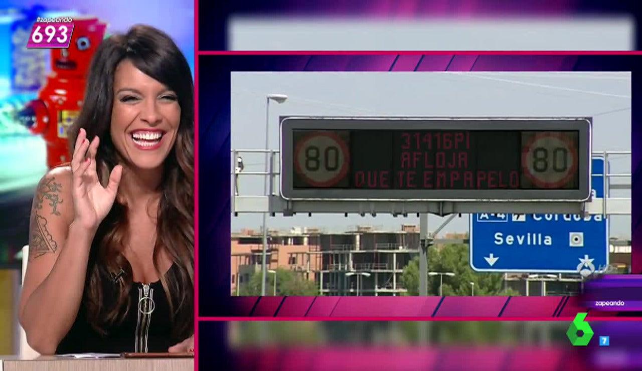 Lorena Castell crea nuevas frases para los carteles de la DGT