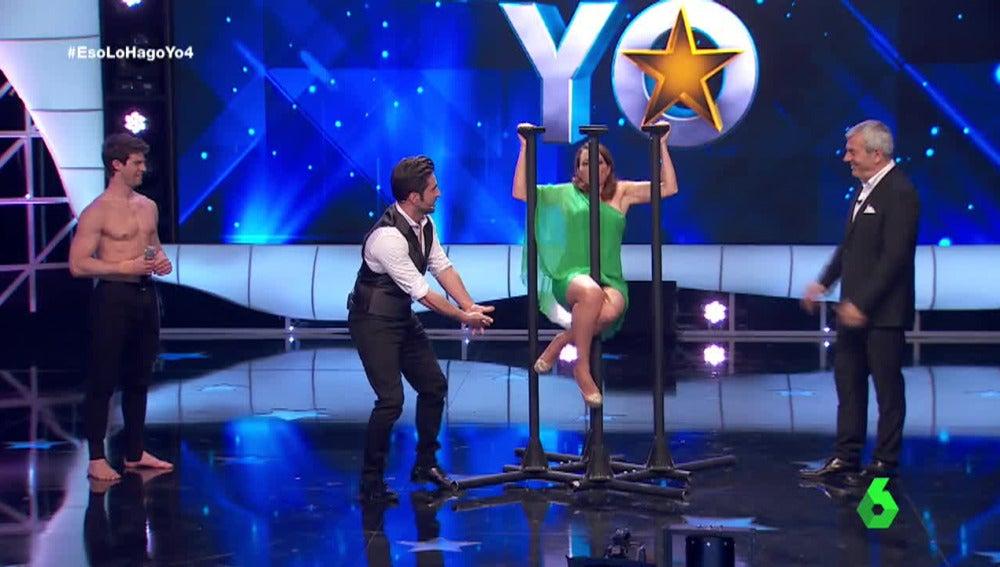 Silvia Abril se sube al escenario para realizar 'Equilibrios'