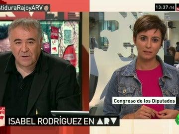 """Frame 76.415271 de: Isabel Rodríguez: """"Le diremos que 'no' a Rajoy, nadie le cree, ha mentido mucho"""""""