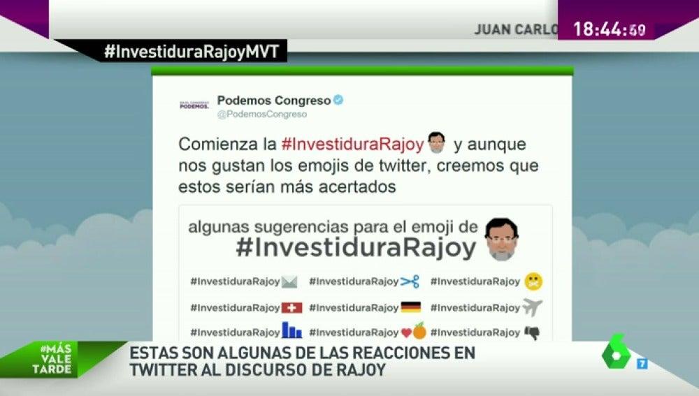 Frame 47.107992 de: De mostrar su rechazo a sacar el lado más humorístico, las mejores reacciones en redes sociales al discurso de Rajoy