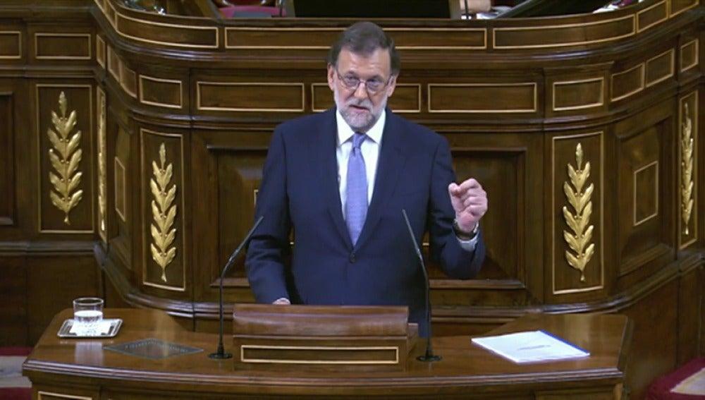 Mariano Rajoy en la sesión de investidura