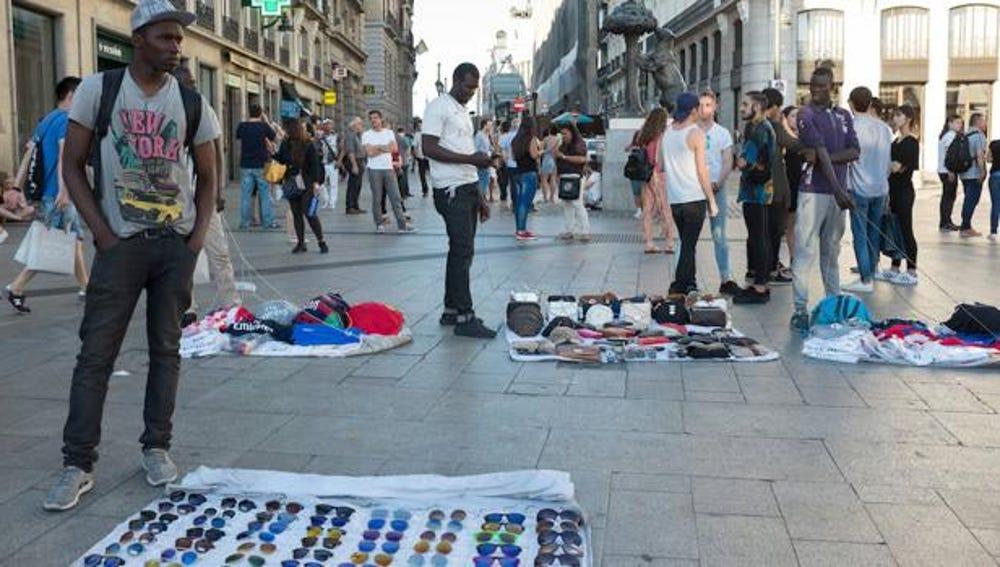 Manteros en Madrid