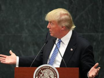 El candidato republicano a la presidencia de Estados Unidos, Donald Trump