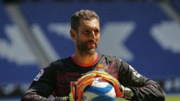 Diego López, con los colores del Espanyol