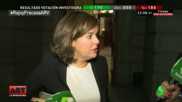 Soraya Sáenz de Santamaría, vicepresidenta del Gobierno en funciones