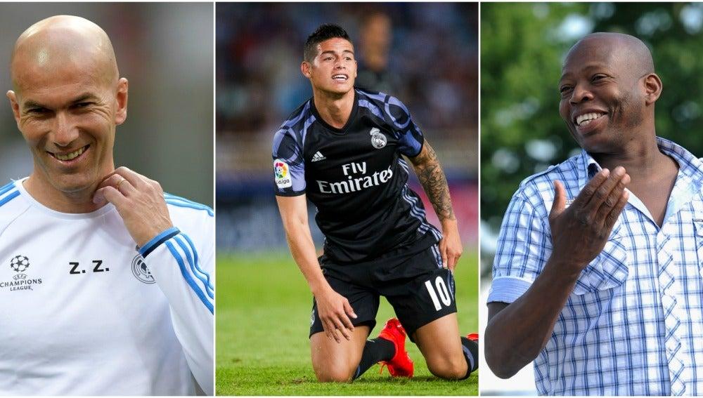Zidane, James y Asprilla
