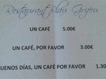 Un restaurante de Girona premia la buena educación