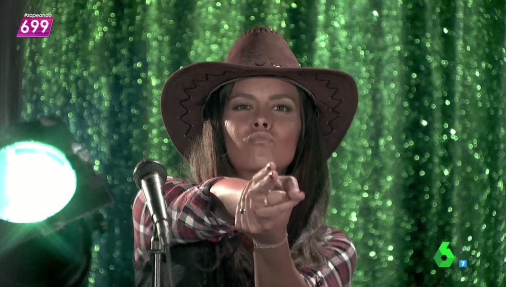 Cristina Pedroche en el videoclip de los Village People